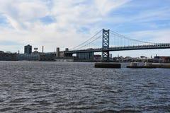 Benjamin Franklin Bridge à Philadelphie Photo libre de droits