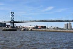 Benjamin Franklin Bridge à Philadelphie Image libre de droits