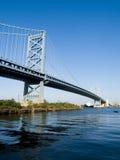 Benjamin Franklin Bridge. The Benjamin Franklin Bridge, linking New Jersey and Pennsylvania at Philadelphia Stock Photos