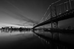 Benjamin Franklin bridge #1 Stock Images
