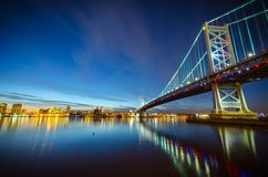Benjamin Franklin bridge #3 Royalty Free Stock Image