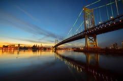 Benjamin Franklin Bridge Στοκ Φωτογραφίες