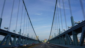 Benjamin Franklin Bridge em Philadelphfia Fotos de Stock