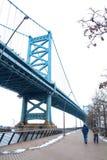 Benjamin Franklin Bridge em Philadelphfia imagens de stock