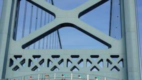 Benjamin Franklin Bridge in Filadelfia Fotografie Stock Libere da Diritti