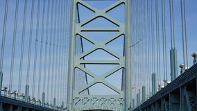 Benjamin Franklin Bridge in Filadelfia Immagini Stock Libere da Diritti