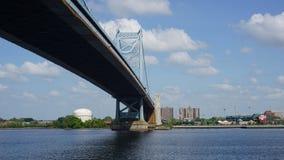 Benjamin Franklin Bridge in Filadelfia Fotografia Stock