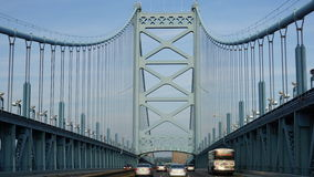 Benjamin Franklin Bridge in Filadelfia Fotografia Stock
