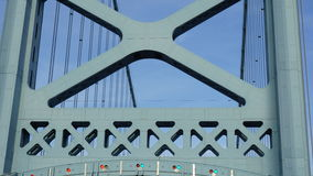 Benjamin Franklin Bridge i Philadelphia Royaltyfria Foton