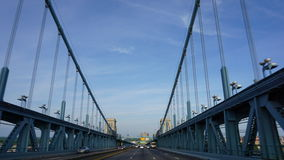 Benjamin Franklin Bridge i Philadelphia Royaltyfri Foto