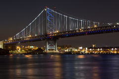 Benjamin Franklin Bridge at Night Royalty Free Stock Image