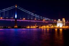 benjamin Franklin bridge noc Zdjęcia Stock