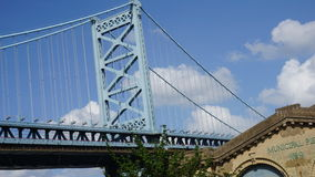 Benjamin Franklin Bridge in Philadelphia Stockbilder
