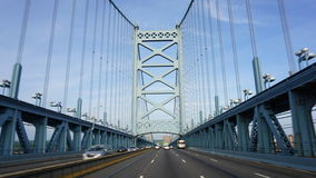 Benjamin Franklin Bridge in Philadelphia Royalty-vrije Stock Foto's