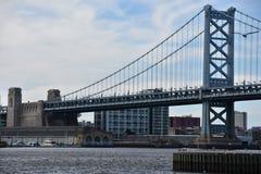 Benjamin Franklin Bridge in Philadelphia Royalty-vrije Stock Foto