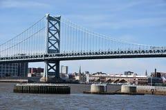 Benjamin Franklin Bridge in Philadelphia Royalty-vrije Stock Afbeeldingen