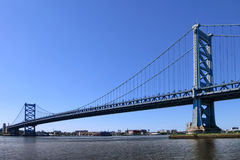 Benjamin Franklin Bridge Philadelphia Pennsylvania Stock Afbeelding