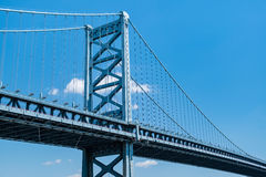 Benjamin Franklin Bridge. In Philadelphia, Pennsylvania Royalty Free Stock Image
