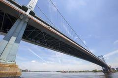 Benjamin Franklin Bridge. In Philadelphia in Pennsylvania, America Stock Photos