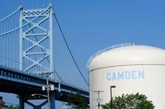 Benjamin Franklin Bridge. Philadelphia, Pennsylvania. Benjamin Franklin Bridge between Philadelphia, Pennsylvania and Camden, NJ. No brand names or copyright Royalty Free Stock Images