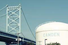 Benjamin Franklin Bridge. Philadelphia, Pennsylvania. Benjamin Franklin Bridge between Philadelphia, Pennsylvania and Camden, NJ. No brand names or copyright Stock Image