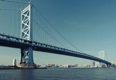 Benjamin Franklin Bridge. Philadelphia, Pennsylvania. Benjamin Franklin Bridge between Philadelphia, Pennsylvania and Camden, NJ. No brand names or copyright Royalty Free Stock Photos