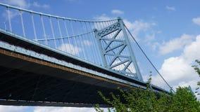 Benjamin Franklin Bridge in Philadelphia. USA Royalty Free Stock Photo