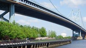 Benjamin Franklin Bridge in Philadelphia. USA Stock Image
