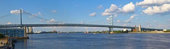 Benjamin Franklin Bridge à Philadelphie Images libres de droits