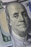Benjamin Franklin cent dollars US Photographie stock libre de droits