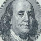 Benjamin Franklin closeup. Closeup of Benjamin Franklin from USA 100 dollars money Royalty Free Stock Images