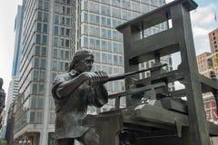 Benjamin Franklin Craftsman Sculpture in Philadelphia, Pennsylvania royalty-vrije stock foto's