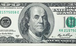 Benjamin Franklin fâché Photographie stock