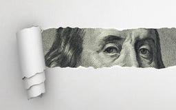 Benjamin Franklin-gezicht Stock Foto's
