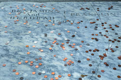 Benjamin Franklin Grave Royaltyfria Foton