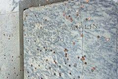 Benjamin Franklin Grave na terra de enterro da igreja de Cristo em Philadelphfia Foto de Stock Royalty Free