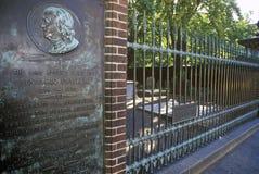 Benjamin Franklin gravesite, Philadelphia, PA Stock Photography