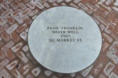 Benjamin Franklin House Water Well från Philadelphia i Pennsylvania USA royaltyfri bild