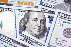 Benjamin Franklin on the hundred dollar bill Royalty Free Stock Photo