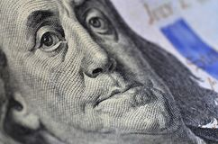 Benjamin Franklin hundred us dollars Stock Image