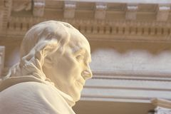 Benjamin Franklin Memorial, Franklin Institute, Philadelphfia, PA Foto de Stock