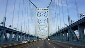 Benjamin Franklin most w Filadelfia Zdjęcia Royalty Free