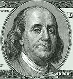 BENJAMiN FRANKLIN ONE HUNDRED BILL Stock Photo