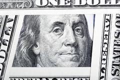 Benjamin Franklin on the one hundred dollar bill framed by other Royalty Free Stock Images