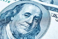 Benjamin Franklin op 100 dollarrekening Royalty-vrije Stock Fotografie
