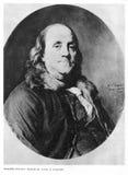 Benjamin Franklin på ståenden Arkivbild