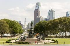 Benjamin Franklin Parkway, Philadelphia stock afbeeldingen
