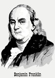Benjamin Franklin portrait. American President Benjamin Franklin portrait royalty free illustration