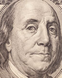 Benjamin Franklin portrait from a $100 bill Stock Image