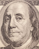 Benjamin Franklin portrait from a $100 bill Royalty Free Stock Images